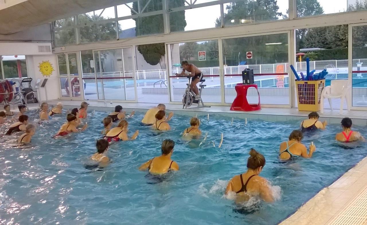 Cours d'aquabike à Vic