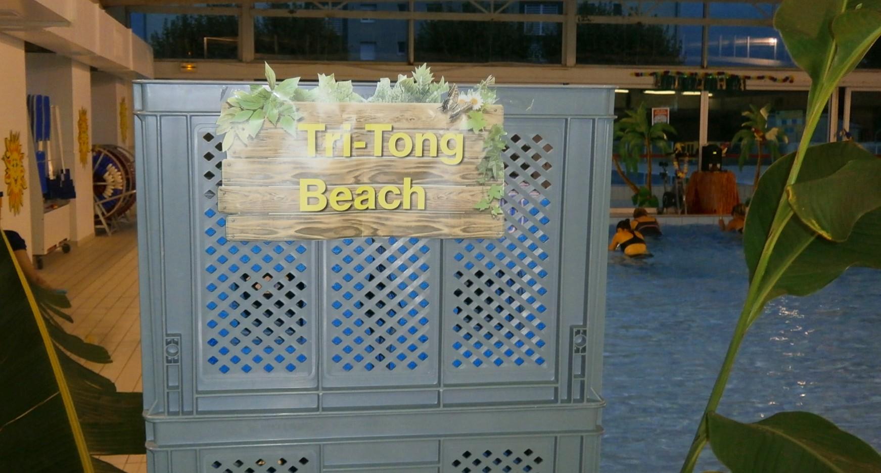 Tri-tong Beach, tombée de la nuit